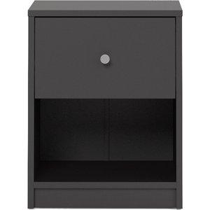 Oak Furniture Superstore April 1 Drawer Bedside Chest In Black 7087033186, Black
