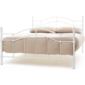 Oak Furniture Superstore Arles 150cm King Size Bed In White Gloss Pari500whbed, White