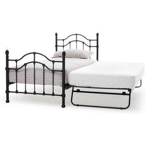 Oak Furniture Superstore Arles 90cm Single Bed In Black And Guest Bed Pari300bkbgb, Black