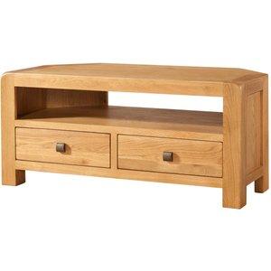 Oak Furniture Superstore Avalon Oak Corner Tv Unit Dav018, Oak
