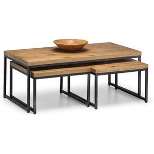 Oak Furniture Superstore Bailee Oak Nesting Coffee Tables Bro004, Oak