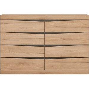 Oak Furniture Superstore Belgravia 8 Wide Chest Of Drawers 4034445, Oak