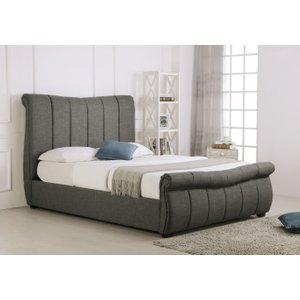 Oak Furniture Superstore Bosworth Grey Fabric Sleigh Ottoman Bed Em Bos Grey Bed