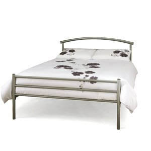 Oak Furniture Superstore Bronnington 135cm Double Bed In Silver Bren460sibed, Silver