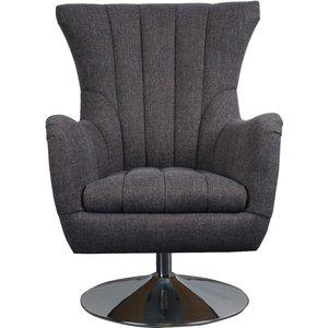 Oak Furniture Superstore Cadis Swivel Chair Zcad1, Dark Grey