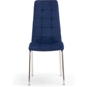 Oak Furniture Superstore Calgary Blue Velvet Dining Chairs - Blue, 2 Chairs Pt30585, Blue