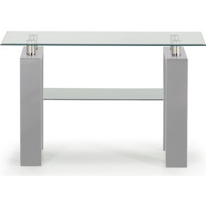 Oak Furniture Superstore Calico Grey Console Table Cal 009 Gy, Grey