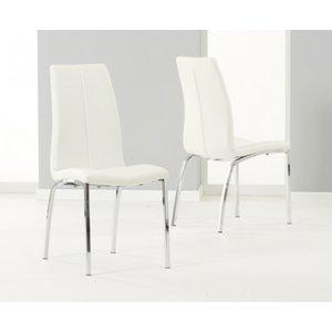 Oak Furniture Superstore Cavello Cream Faux Leather Dining Chairs CAV CREAM CHAIRS 9265 29514, Cream