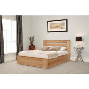 Oak Furniture Superstore Charnwood Oak Ottoman Bed CHARN OAK, Ash