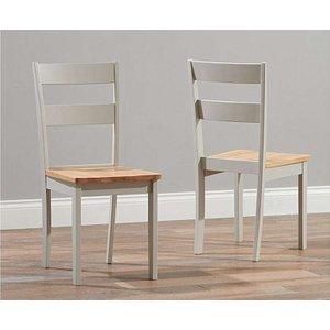 Oak Furniture Superstore Chiltern Oak And Grey Dining Chairs CHILTERN GREY CH 4683 15252, Oak and Grey
