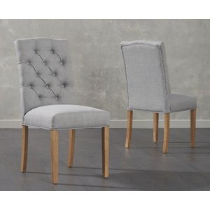 Oak Furniture Superstore Claudia Grey Fabric Dining Chairs CLAUDIA GREY 8499 27875, Grey