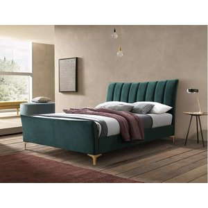 Oak Furniture Superstore Clover 120cm Small Double Bed In Green Clvb4grn, Green
