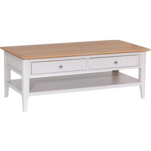 Oak Furniture Superstore Daniella Oak And Grey Large Coffee Table Mh Ntp Lct, Oak and Grey