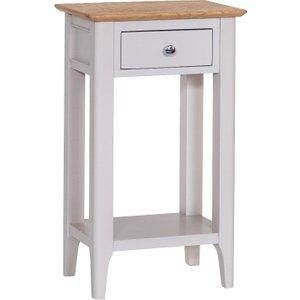 Oak Furniture Superstore Daniella Oak And Grey Telephone Table Dan Tel, Oak and Grey