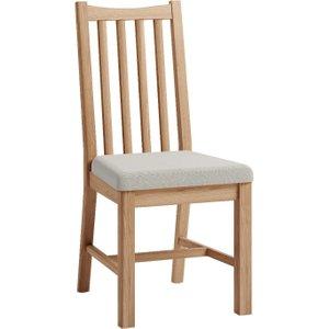 Oak Furniture Superstore Dante Dining Chairs Da Chf Single, Oak