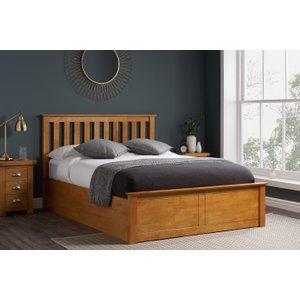 Oak Furniture Superstore Detroit Oak Small Double Ottoman Bed Photb4oakv2, Oak