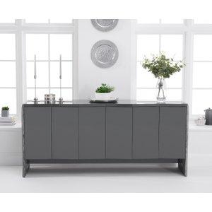 Oak Furniture Superstore Dorit 180cm Grey Marble Sideboard Pt22879