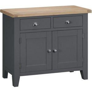 Oak Furniture Superstore Eden Oak And Grey 2 Door 2 Drawer Sideboard Ede Sts Ch, Oak and Grey