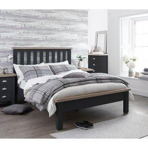 Oak Furniture Superstore Eden Oak And Grey Single Bed Ede 30 Ch, Oak and Grey