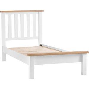 Oak Furniture Superstore Eden Oak And White Single Bed Ede 30 W, White