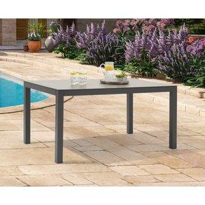 Oak Furniture Superstore Ex-display Gardenia 150cm Dark Grey Garden Table Pt94054