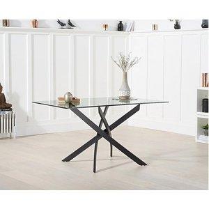 Oak Furniture Superstore Ex-display Mara 120cm Rectangular Glass Dining Table Pt94044