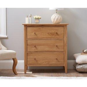 Oak Furniture Superstore Ex-display Sadie Oak 3 Drawer Chest Pt94090