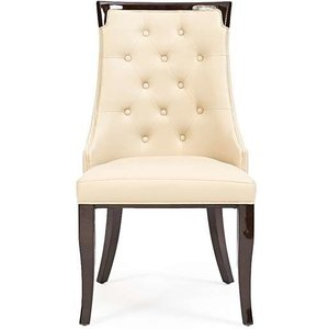 Oak Furniture Superstore Ex-display Set Of 2 Angelica Cream Faux Leather Dining Chairs Pt93039, Ash