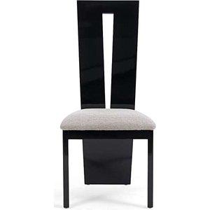 Oak Furniture Superstore Ex-display Set Of 2 Verbier Solid Wood Black Dining Chairs Pt92899