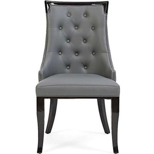 Oak Furniture Superstore Ex-display Set Of Four Angelica Grey Faux Leather Dining Chairs Pt93537