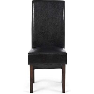 Oak Furniture Superstore Ex-display Set Of Four Dakota Brown Faux Leather Dining Chairs Pt92048