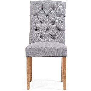 Oak Furniture Superstore Ex-display Set Of Six Claudia Grey Fabric Dining Chairs Pt94286