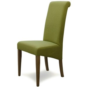 Oak Furniture Superstore Ex-display Set Of Six Italia Fabric Bright Green Dining Chairs Pt94053