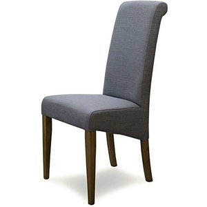 Oak Furniture Superstore Ex-display Set Of Six Italia Fabric Neutral Grey Dining Chairs Pt93513