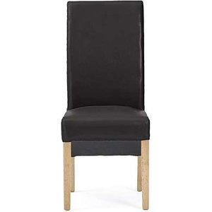 Oak Furniture Superstore Ex-display Set Of Two Cannes Brown Bonded Leather Dining Chairs Pt90088