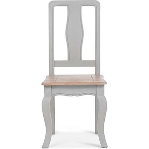 Oak Furniture Superstore Ex-display Set Of Two Parisian Grey Shabby Chic Dining Chairs Pt93215, Ash