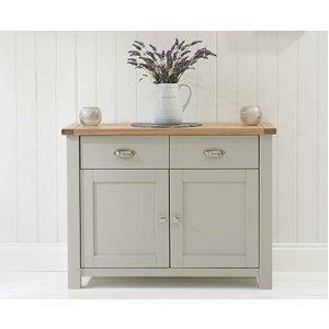 Oak Furniture Superstore Ex-display Somerset Oak And Grey 2 Door 2 Drawer Sideboard Pt93054