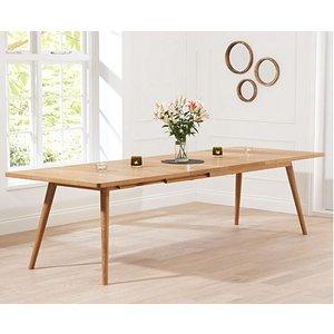 Oak Furniture Superstore Ex-display Tivoli 200cm Retro Oak Extending Dining Table Pt91392