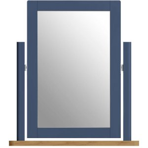 Oak Furniture Superstore Fay Blue Trinket Mirror Fa Tm B, Blue