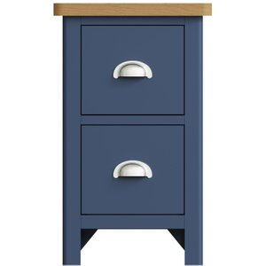 Oak Furniture Superstore Fay Oak And Blue Small Bedside Table Fa Sbsc B, Oak and Blue