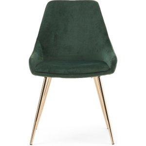 Oak Furniture Superstore Fern Green Velvet Dining Chairs - Green, 2 Chairs Pt30621, Green