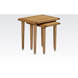 Oak Furniture Superstore Goa Oak Nest Of Tables 13845, Oak