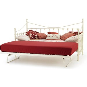 Oak Furniture Superstore Havre 90cm Day Bed In Ivory Gloss And Guest Bed Mars300ivdgb, Ivory