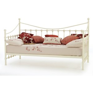 Oak Furniture Superstore Havre 90cm Day Bed In Ivory Gloss Mars300ivday, Ivory