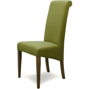Oak Furniture Superstore Italia Fabric Bright Green Dining Chairs CHITA BRIGHT GREEN SINGLE, Green