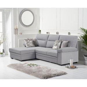 Oak Furniture Superstore Josephine Grey Linen Left Hand Facing Corner Sofa Bed Pt31380, Grey