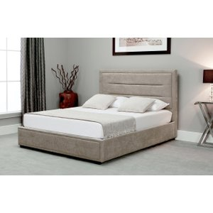 Oak Furniture Superstore Kettner Stone Fabric Ottoman Bed Em Kett Stone Bed, Stone