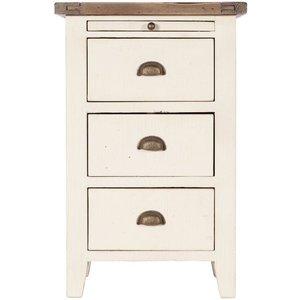 Oak Furniture Superstore Long Island Oak And Cream Bedside Chest Ct04, Oak and Cream