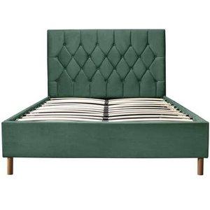 Oak Furniture Superstore Lox 135cm Double Ottoman Bed In Green Loxotb46grn, Green
