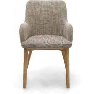 Oak Furniture Superstore Ludlow Tweed Fabric Dining Chairs SID DCF TWED SINGLE, Grey